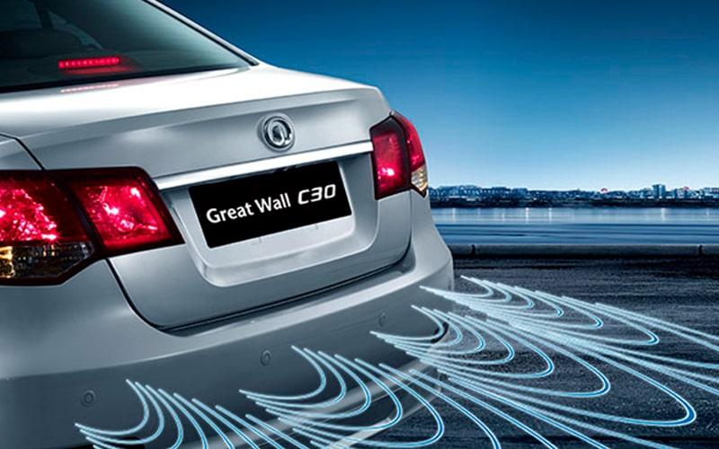 El Sensor de Retroceso de el Voleex C30 te da tranquilidad a la hora de estacionar, ayudándote a dejar en el espacio adecuado tu sedán.